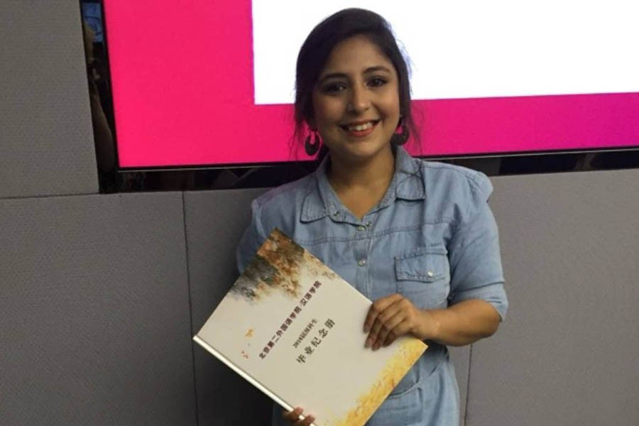Fluency in Chinese adds to Indian woman's career