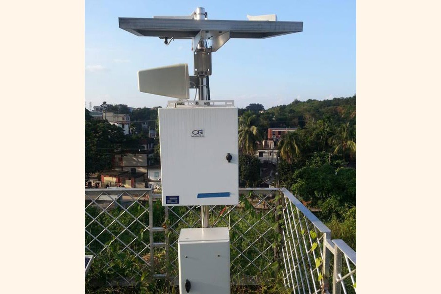 An optical rain gauge has been set up on the Sylhet regional Met office premises alongside three other important district towns — FE Photo