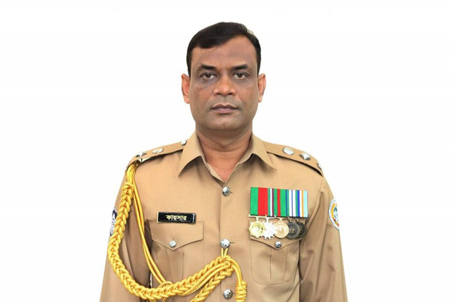 Sarkar Mohammad Kaisar, the Police Superintendent of Bhola district seen in this file photo — via UNB