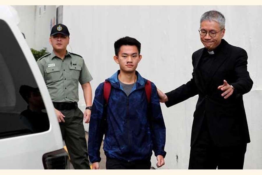 Chan Tong-kai, a Hong Kong citizen who was accused of murdering his girlfriend in Taiwan last year, leaving from Pik Uk Prison, in Hong Kong, 0n Wednesday   — Reuters