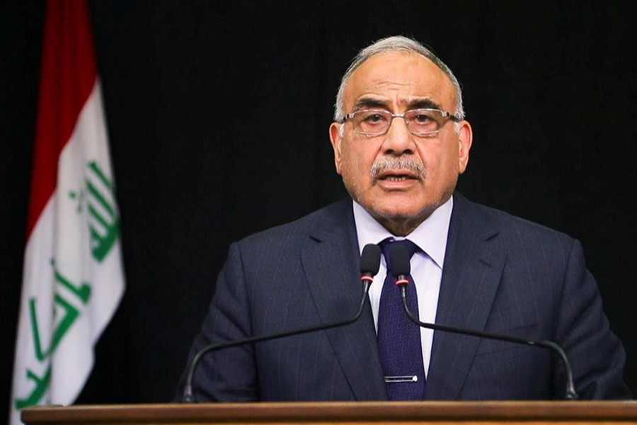 Iraqi Prime Minister Adel Abdul Mahdi gives a televised speech in Baghdad, Iraq on October 9, 2019 — Reuters/Files