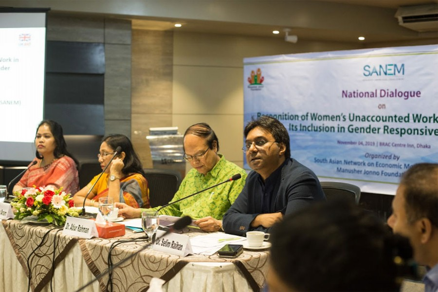 Emphasis on recognising women's unaccounted household works in GDP