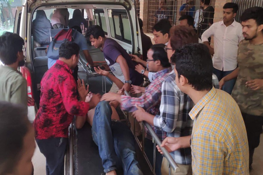 Tension escalates at JU as 'BCL men', protesters fight
