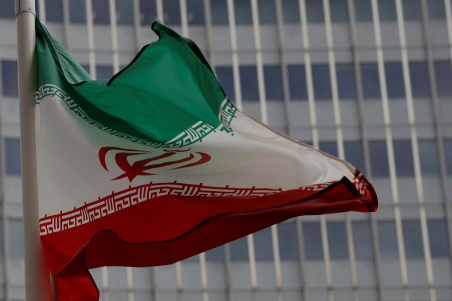 An Iranian flag flutters in front of the International Atomic Energy Agency (IAEA) headquarters in Vienna, Austria September 9, 2019. Reuters/Files
