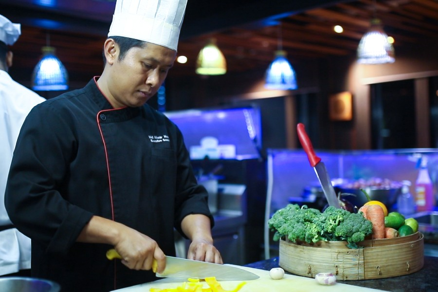 Chef Nong, a Thai native, is an expert at presenting authentic Thai cuisine in a contemporary style.