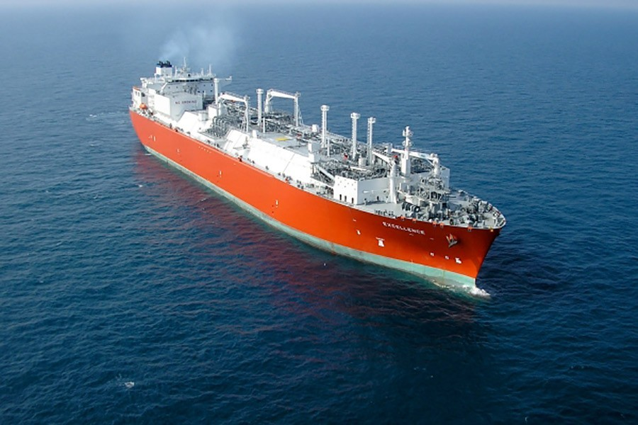The specialised vessel 'Excellence' reaches Bangladesh on Aprril 24, 2018 carrying 136,000 cubic metres of LNG — Collected