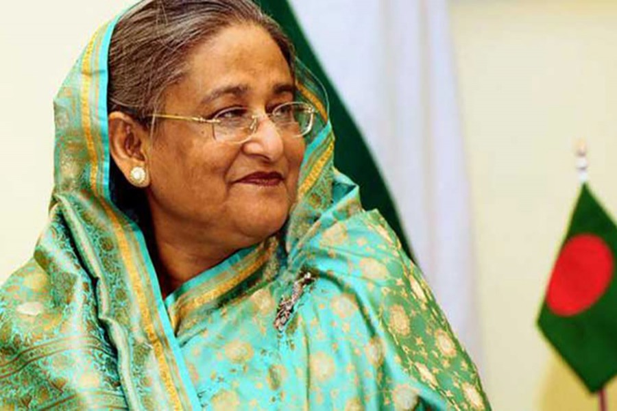 Prime Minister Sheikh Hasina seen in this undated file photo