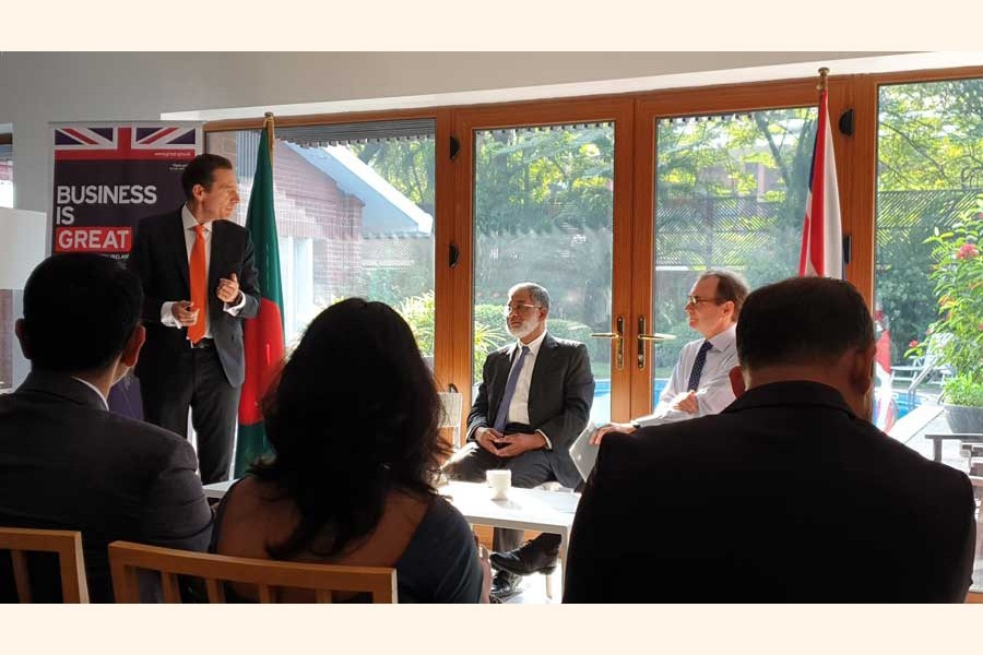 Md. Sirazul Islam, Executive Chairman of BIDA, seen at a breakfast meeting co-hosted by the British Business Group (BBG) and UK High Commissioner Robert Chatterton Dickson on Monday