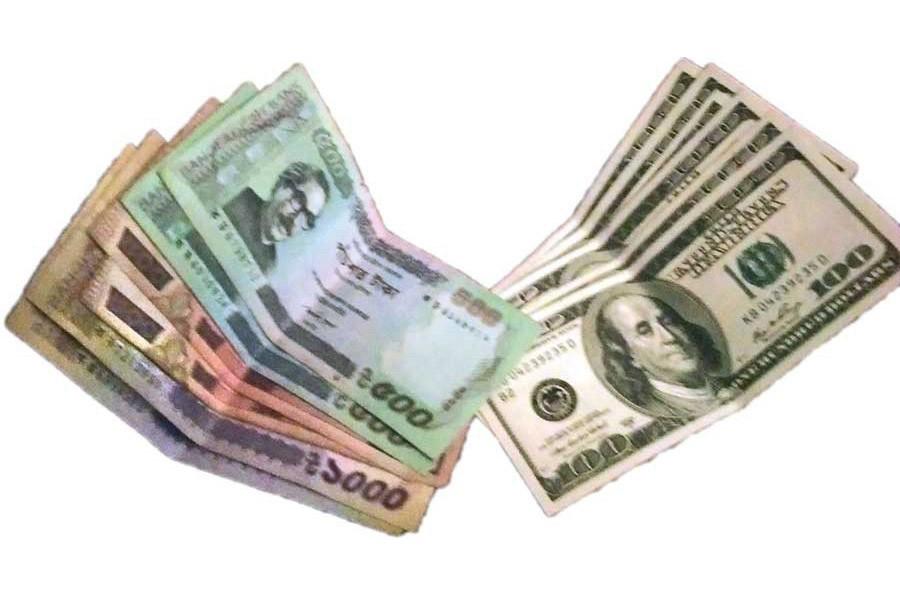 Taka losing value vs dollar