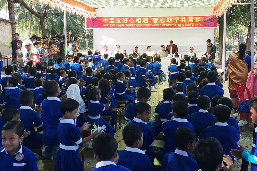 China Harbour celebrates Volunteers' day with Mirsarai school students