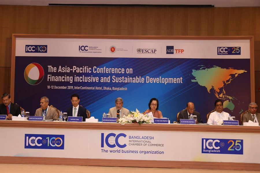 Speakers at a ministerial plenary session titled 'Inclusive Financing for SDGs in Asia and the Pacific' at a city hotel on Wednesday