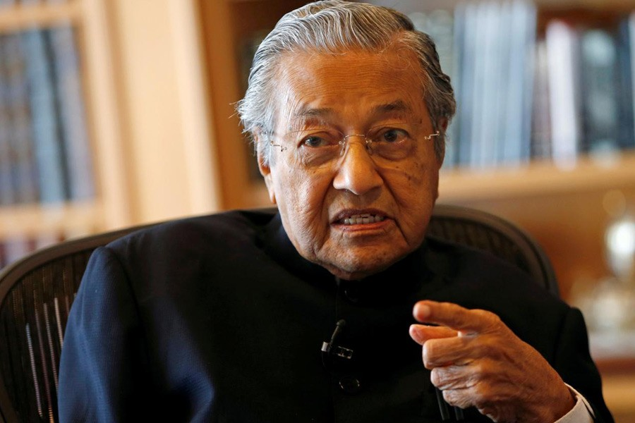 Malaysian Prime Minister Mahathir Mohamad - Reuters file photo