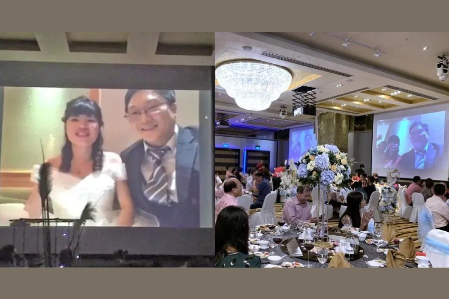 Couple live-streams into own wedding amid coronavirus fears