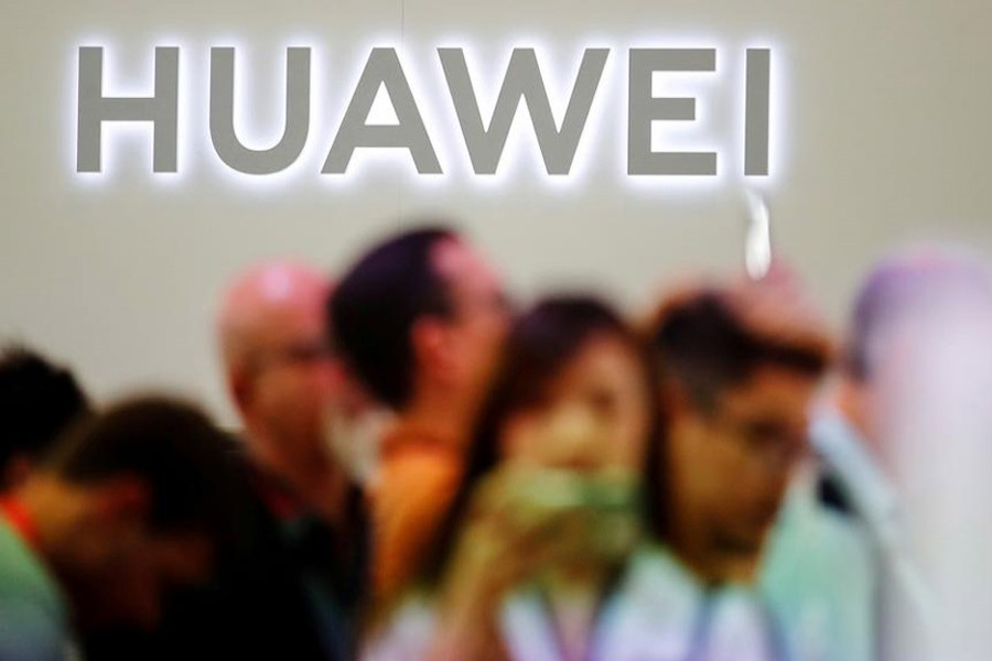 The Huawei logo is pictured at the IFA consumer tech fair in Berlin, Germany, September 6, 2019. Reuters