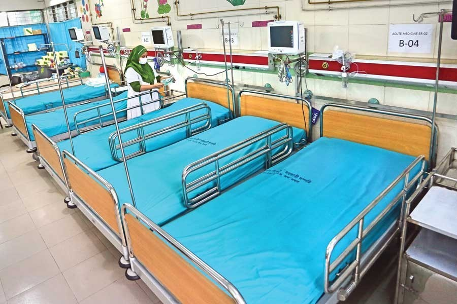 An isolation unit has been opened on the ground floor of unit-2 of Dhaka Medical College Hospital in the city for handling any possible coronavirus outbreak. –FE file photo