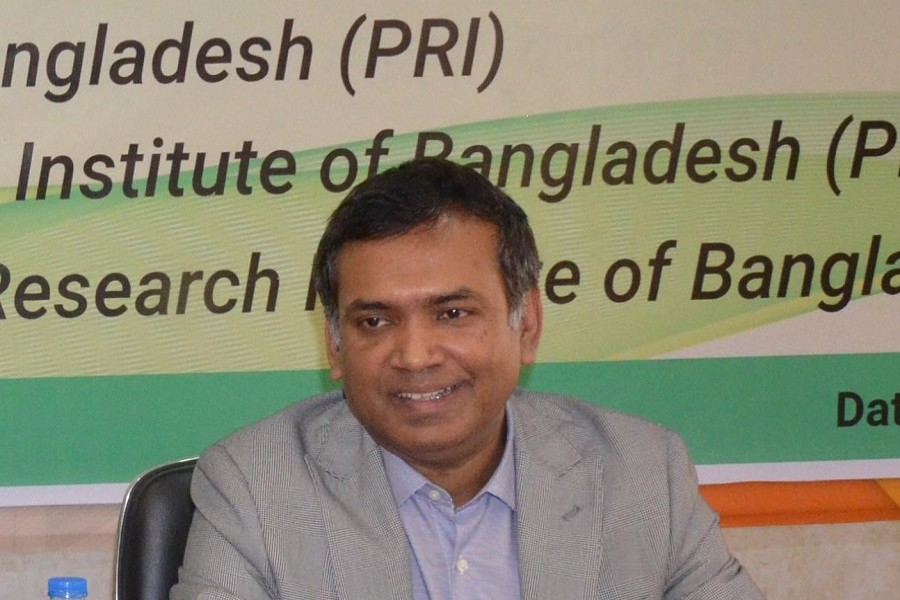 Dr M A Razzaque, research director of Policy Research Institute of Bangladesh (PRI), is seen in the image. — FE Photo