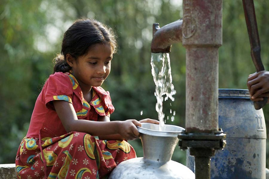 Tubewell is the primary source of water for drinking in rural areas  — UNICEF Photo