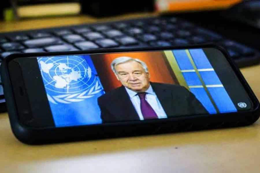File photo of UN Secretary-General H.E. Antonio Guterres