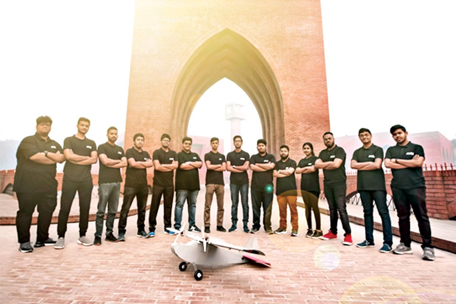 Team ANTS, consisting of fourteen undergraduates from Islamic University of Technology (IUT) with their Freedom-71 project