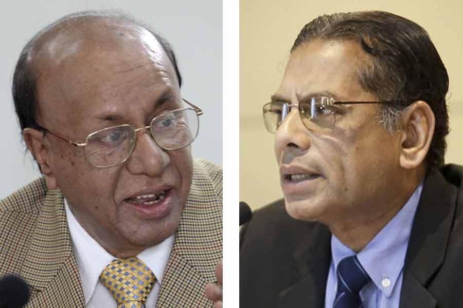 Dr AB Mirza Azizul and Prof Mustafizur Rahman