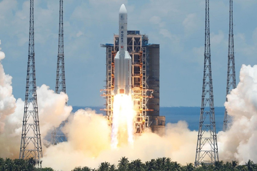 The Long March 5 Y-4 rocket, carrying an unmanned Mars probe of the Tianwen-1 mission, takes off from Wenchang Space Launch Center in Wenchang, Hainan Province, China, July 23, 2020 — Reuters