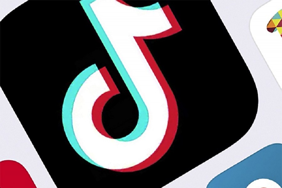 This February 25, 2020, file photo, shows the icon for TikTok in New York — AP