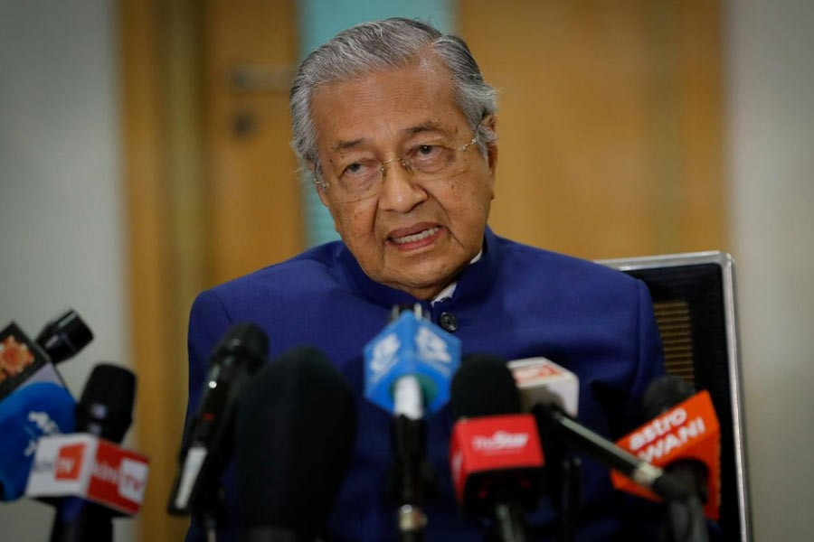 Malaysia's former Prime Minister Mahathir Mohamad speaking during a news conference in Kuala Lumpur, Malaysia on Friday –Reuters Photo