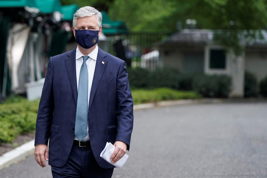 White House National Security Adviser Robert O'Brien seen in this undated Reuters photo
