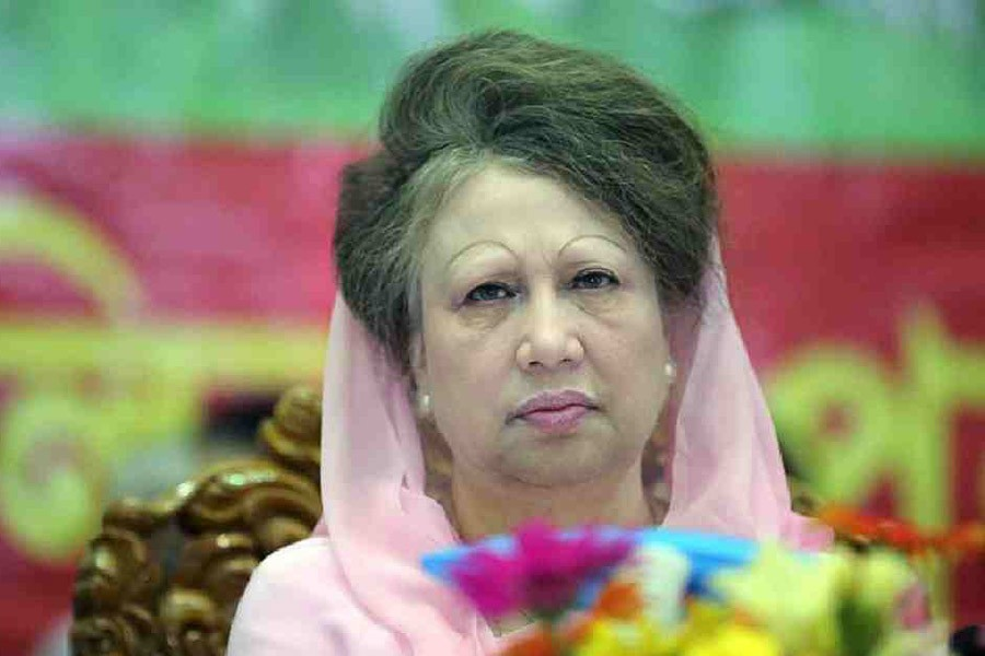 File photo shows BNP Chairperson Khaleda Zia