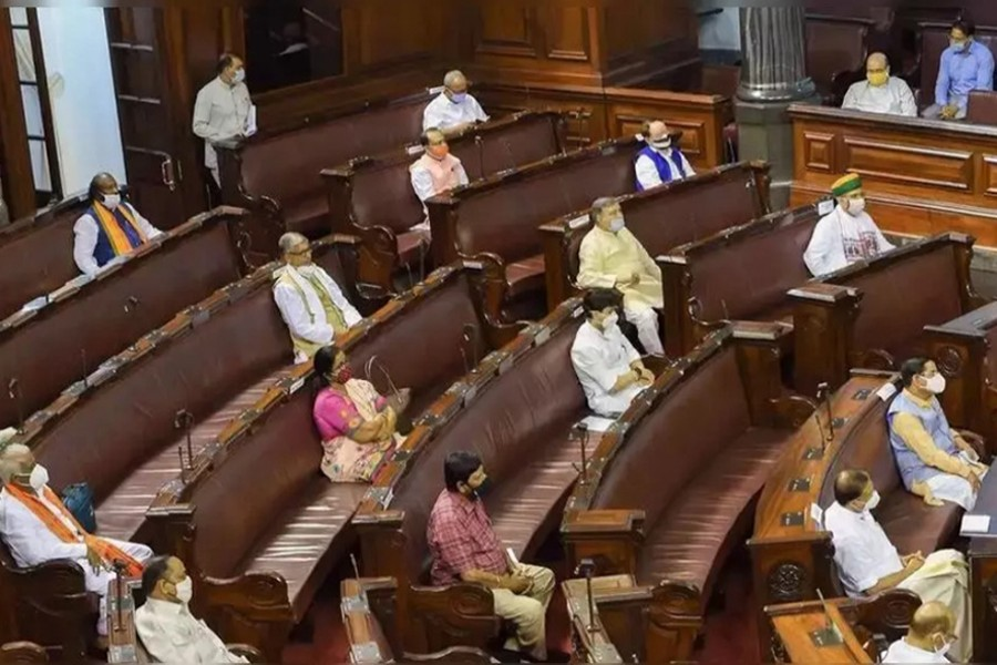 Members of India's Rajya Sabha seen in the Parliament  — PTI/Files