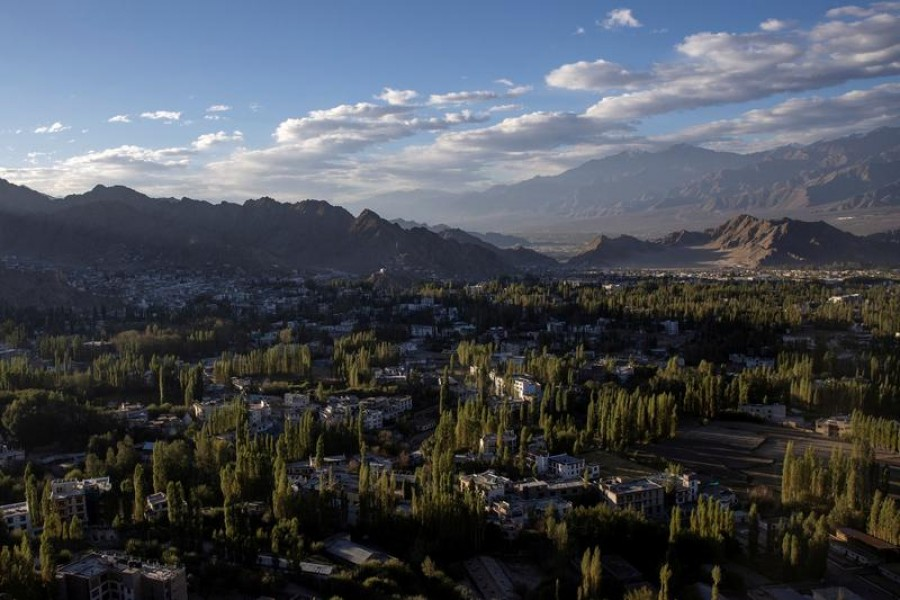 A general view of Leh, in the Ladakh region, September 17, 2020 — Reuters/Files