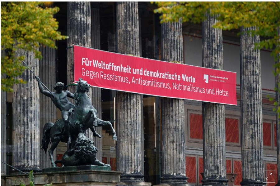 Police probe attack on antique artworks on Berlin's Museum Island