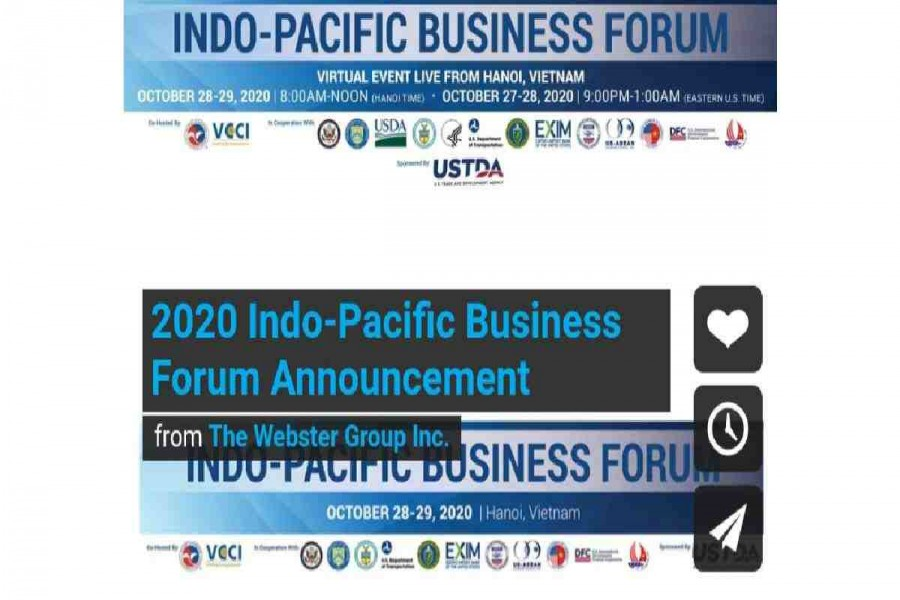 Indo-Pacific Business Forum on Oct 28-29
