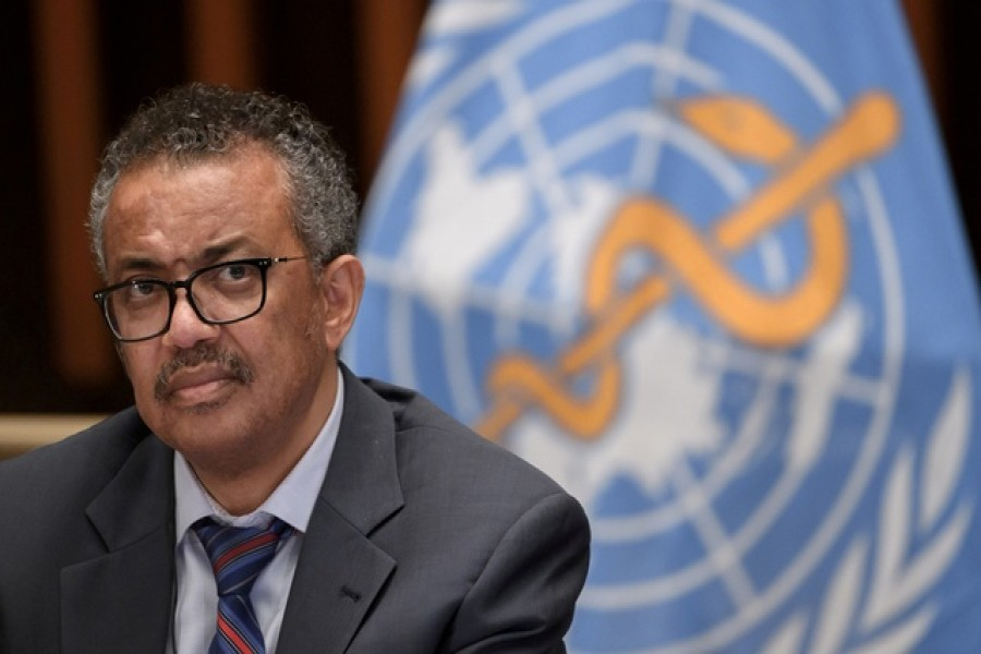 World Health Organisation Director-General Tedros Adhanom Ghebreyesus attends a news conference in Geneva. Reuters