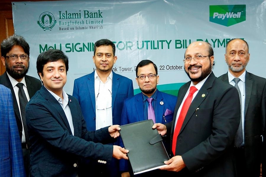IBBL signs MoU with CloudWell Limited on utility bill payment