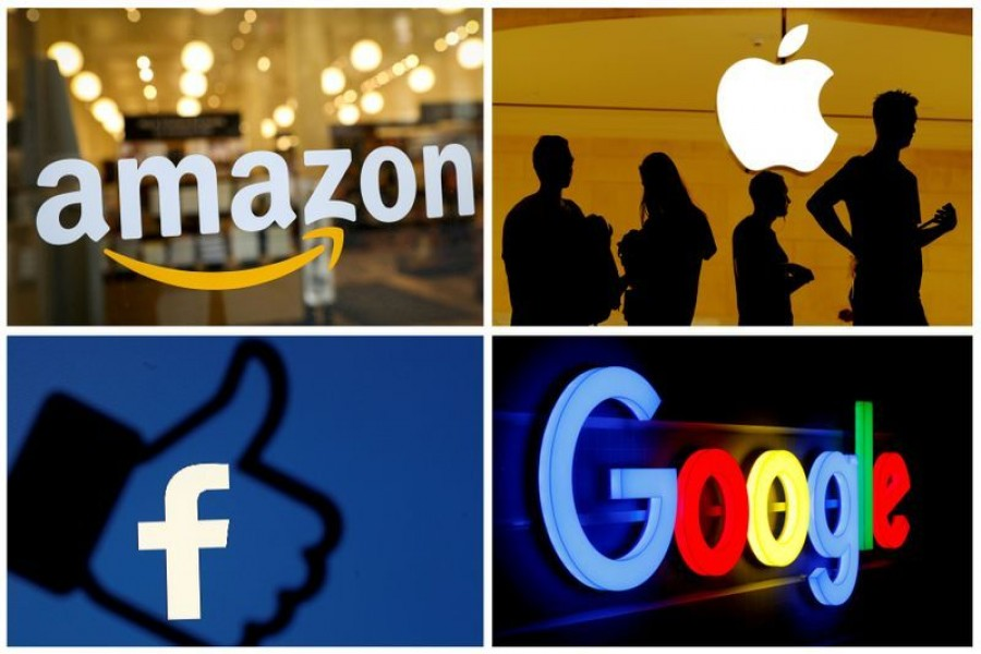 The logos of Amazon, Apple, Facebook and Google in a combination photo — Reuters/Files