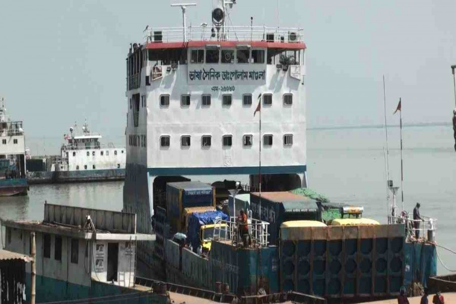 Experimental ferry launched at Kanthalbari-Shimulia