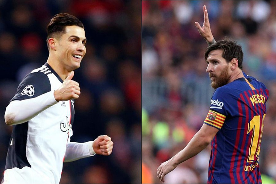 Juventus striker Cristiano Ronaldo (left) and Barcelona talisman Lionel Messi seen in this photo combination — Reuters/Files