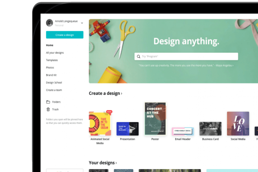 Canva, a youth-friendly designing tool