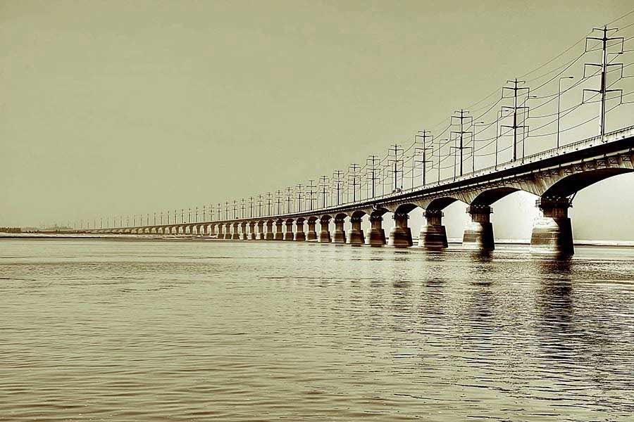 A view of Bangabandhu Bridge seen in this undated photo. Source — Wikipedia