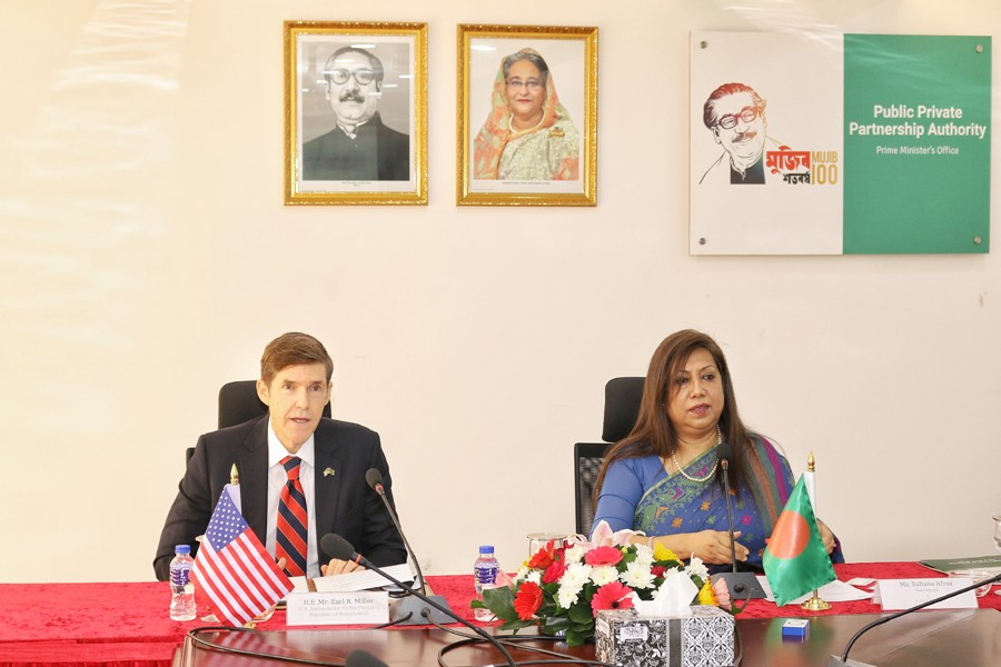 US ambassador to Bangladesh meets CEO of PPP Authority