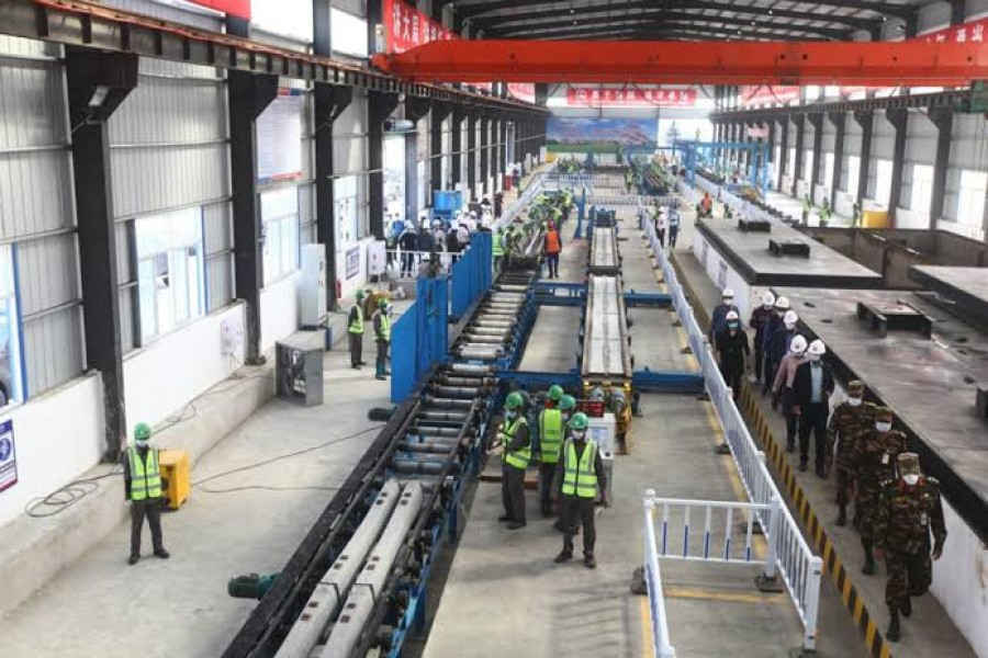 Chinese-built sleeper factory in Bangladesh starts production for mega rail project