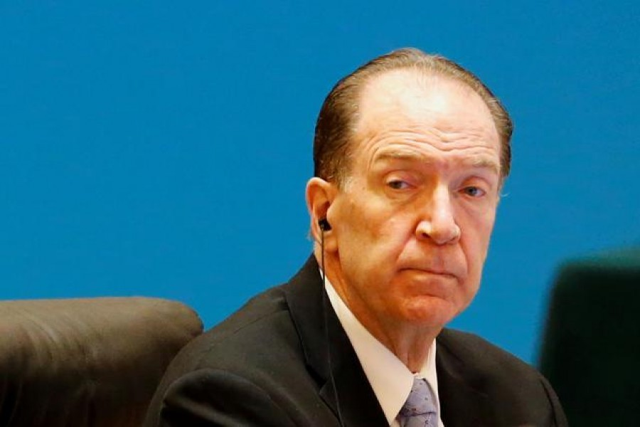 """World Bank President David Malpass attends the """"1+6"""" Roundtable meeting at the Diaoyutai state guesthouse in Beijing, China November 21, 2019. REUTERS/Florence Lo"""
