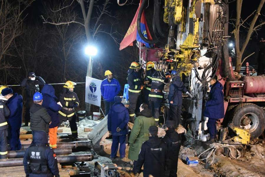 12 workers trapped in China gold mine still alive