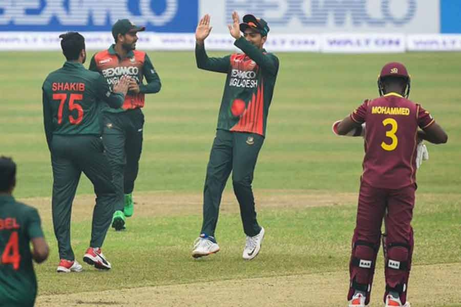 Tigers ease to six-wicket win in first ODI against West Indies