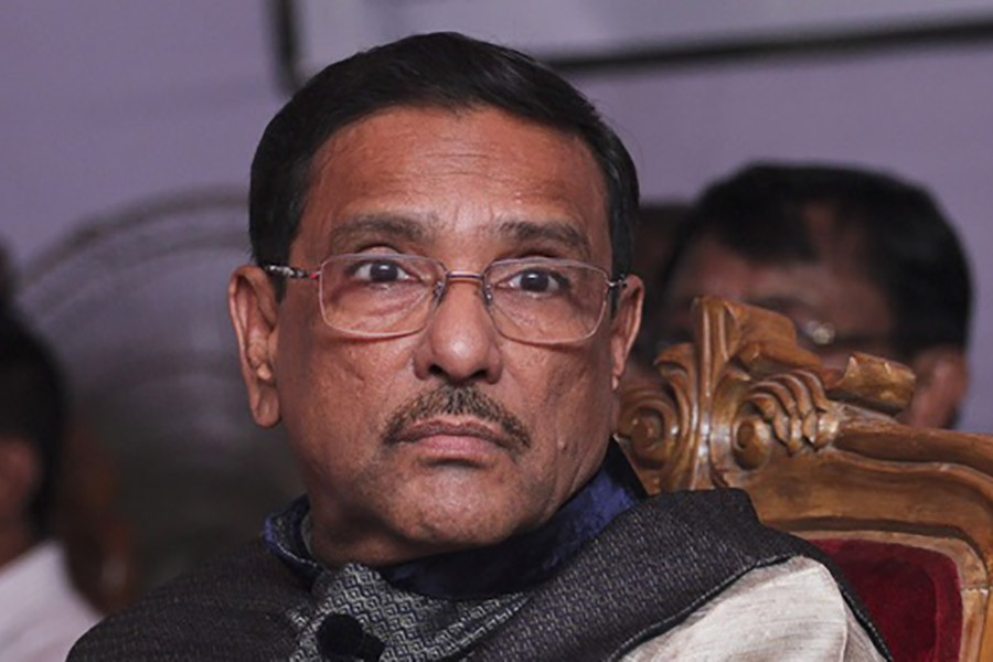 Govt to deal with BNP's evil acts in an iron hand, Obaidul Quader says