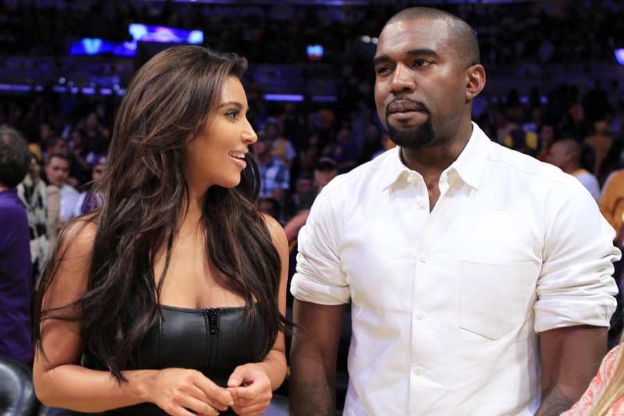 Reality TV star Kim Kardashian (L) and US rapper Kanye West seen in this undated Reuters photo