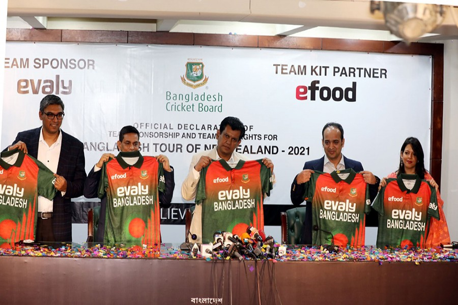 Evaly sponsors Bangladesh cricket team's NZ tour