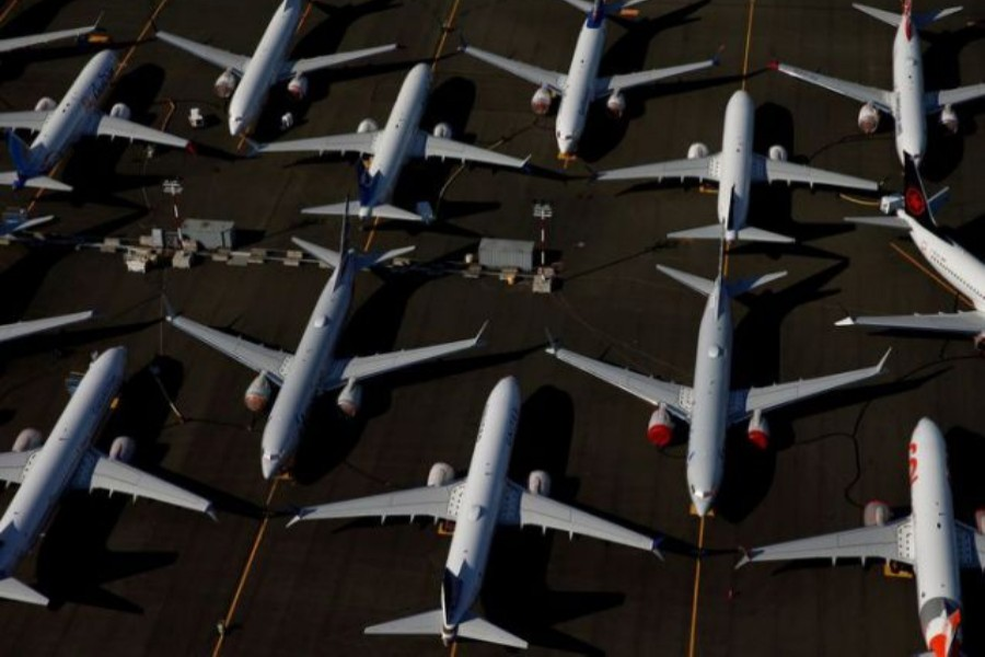 Grounded Boeing 737 MAX aircraft are seen parked in an aerial photo at Boeing Field in Seattle, Washington, US on July 1, 2019 — Reuters/Files