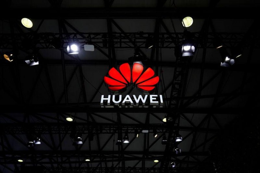 A Huawei logo is seen at the Mobile World Congress (MWC) in Shanghai, China, February 23, 2021 —Reuters/Files